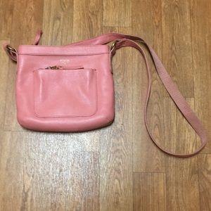 Bubblegum Pink Fossil Crossbody Bag